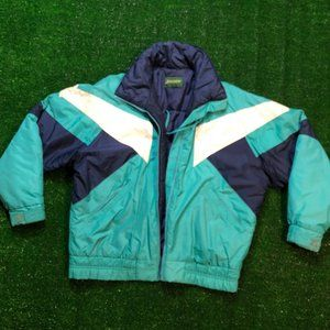 Vintage 80's-90's Puffer Teal